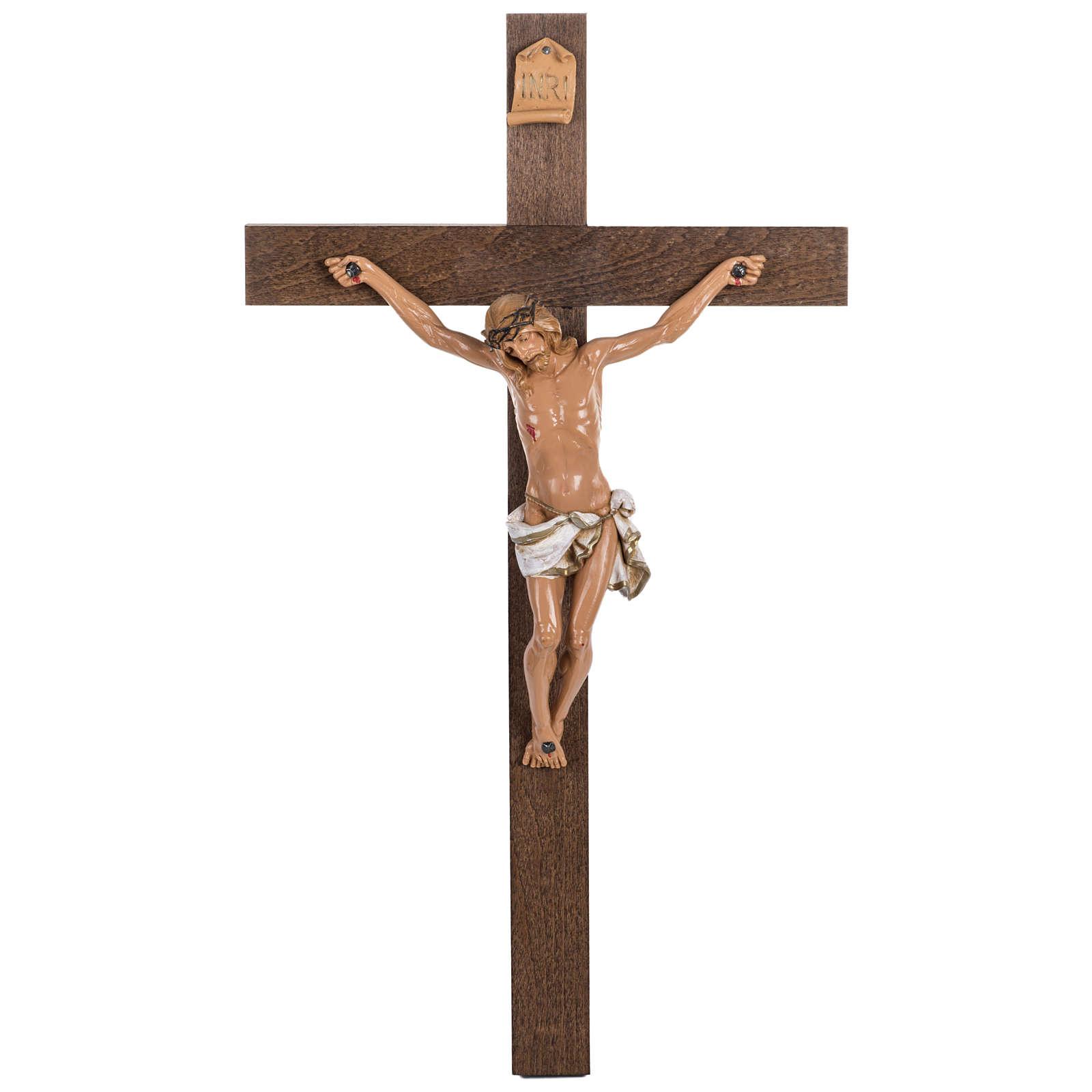 Crucifix croix bois 54x30 corps pvc Fontanini 4