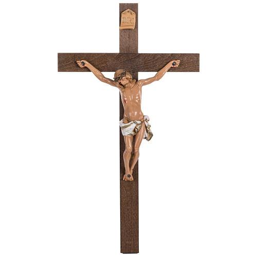 Crocifisso Fontanini croce legno 54x30 corpo pvc 1