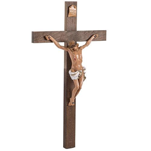 Crocifisso Fontanini croce legno 54x30 corpo pvc 3