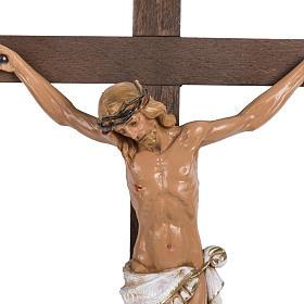Crucifix croix bois 38x22 corps pvc Fontanini s2