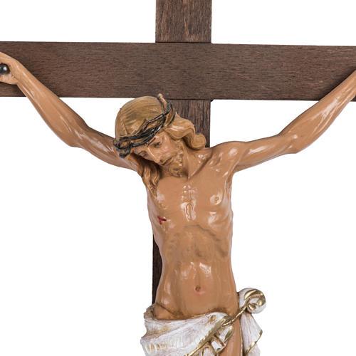 Crucifix croix bois 38x22 corps pvc Fontanini 2