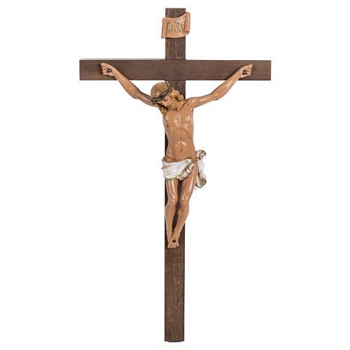 Crocifisso Fontanini croce legno 38x22 corpo pvc 1