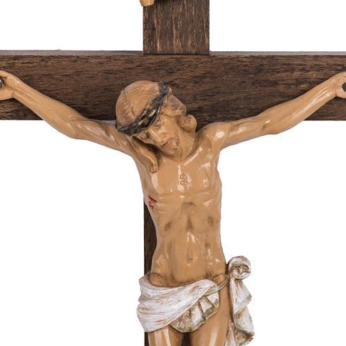 Crocifisso Fontanini croce legno 30x17 corpo pvc 2
