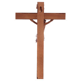 Crocifisso Fontanini croce legno 18x11,5 corpo pvc s4