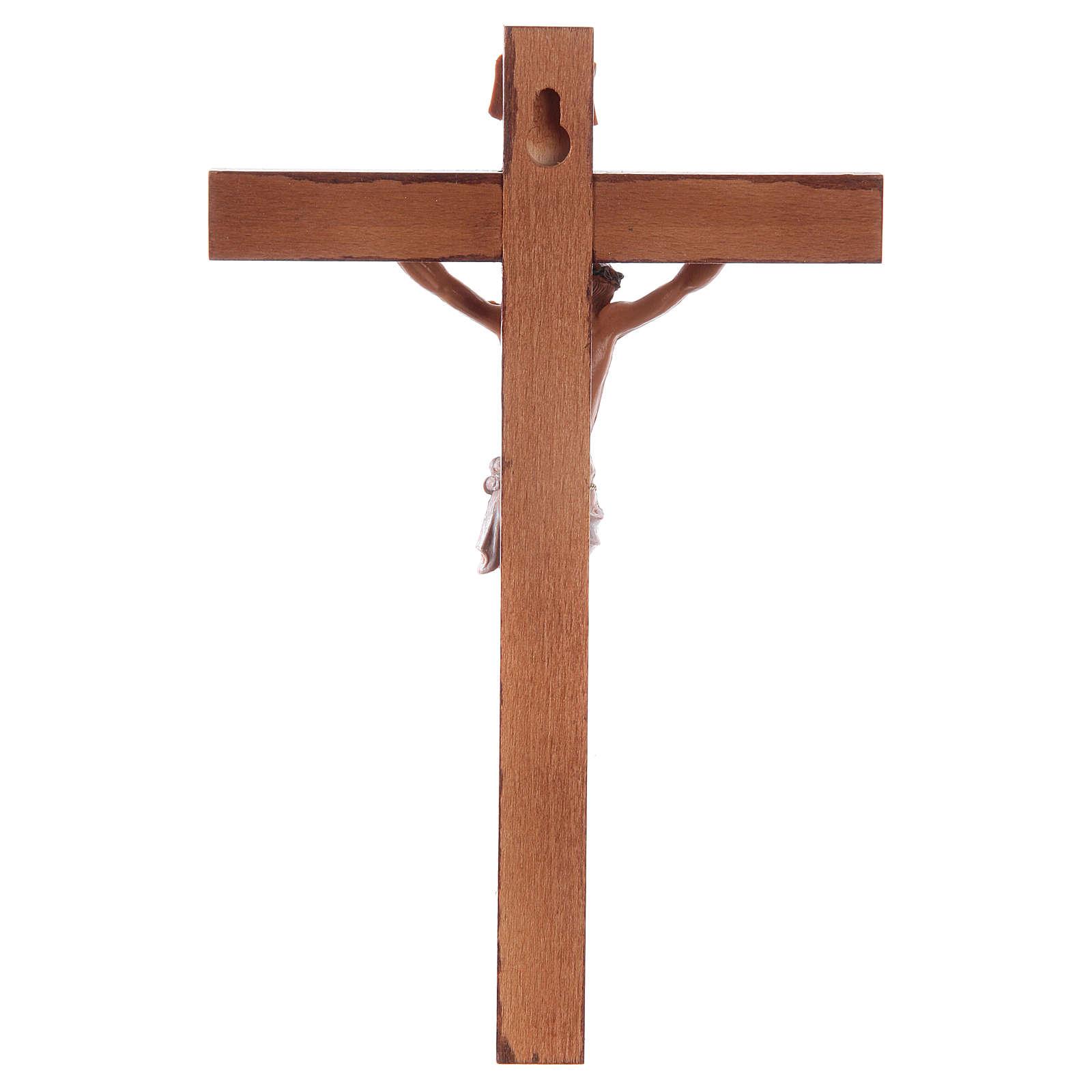 Krucyfiks Fontanini krzyż drewno 18 X 11,5 ciało Chrystusa pvc 4