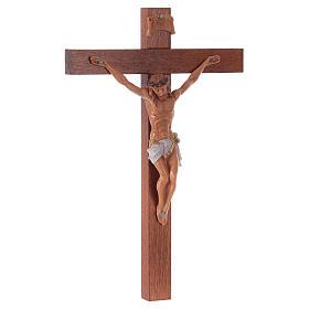Crucifixo Fontanini cruz madeira 18x11,5 cm corpo pvc s3