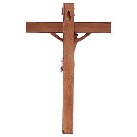 Crucifixo Fontanini cruz madeira 18x11,5 cm corpo pvc s4