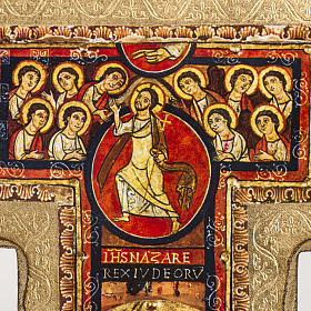 Crucifijo San Damiano estampa sobre madera s3