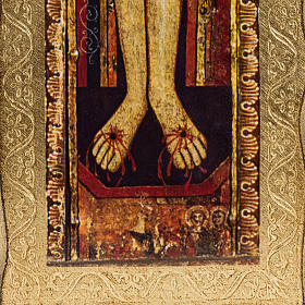 Crucifijo San Damiano estampa sobre madera s4