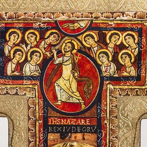Crucifijo San Damiano estampa sobre madera 3