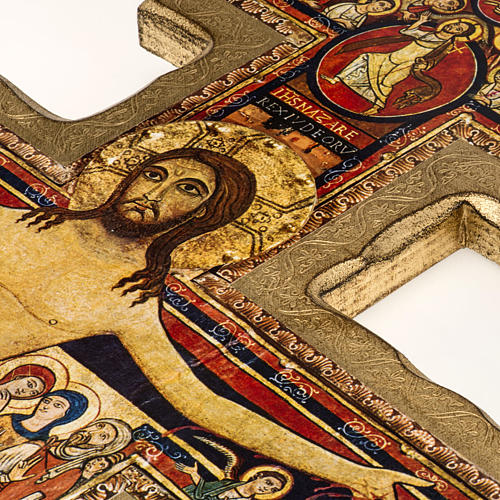 Crucifijo San Damiano estampa sobre madera 5