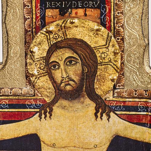 Crucifix de St Damien imprimé sur bois 2