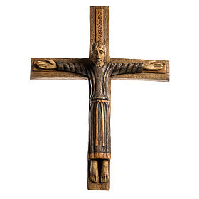 Crucifix en bois: Christ Batloo bois Bethléem