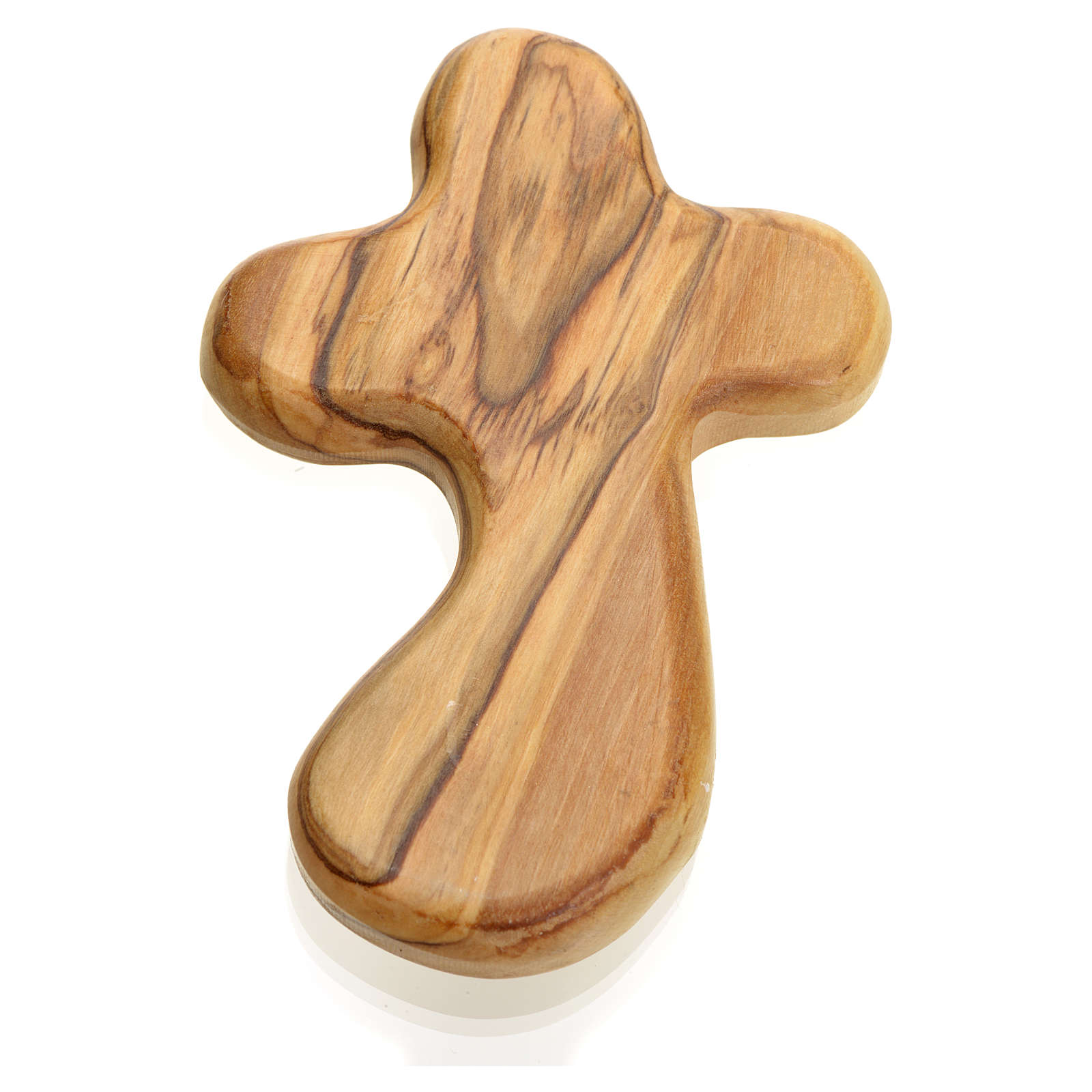 Key of Life in Holy Land olive wood palm cross 4