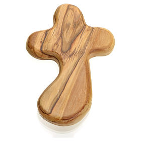 Key of Life in Holy Land olive wood palm cross s1
