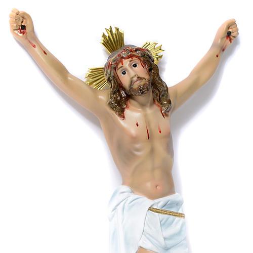 Corpo di Cristo Agonia pasta di legno 30 cm dec. elegante 2