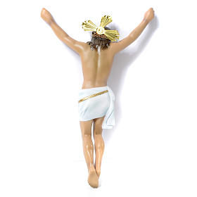 Crucifix, Agony in wood paste with elegant decorations 30cm s3