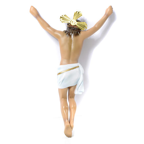 Crucifix, Agony in wood paste with elegant decorations 30cm 3