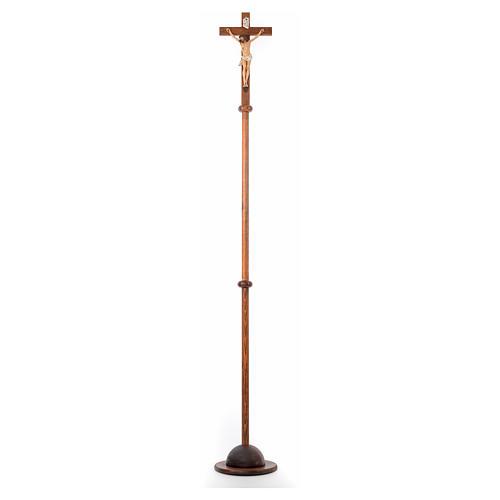 Croce astile resina e legno h 210 cm Landi 1