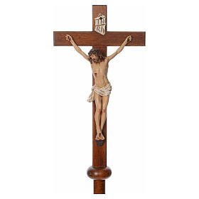 Processional cross in resin and wood 210cm Landi s3