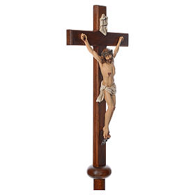 Processional cross in resin and wood 210cm Landi s4