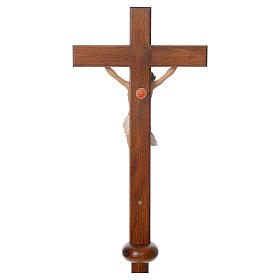 Processional cross in resin and wood 210cm Landi s6