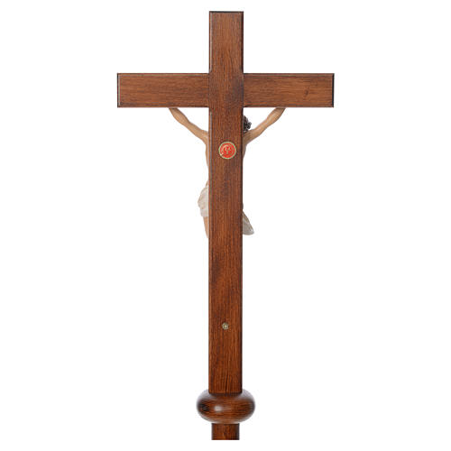 Processional cross in resin and wood 210cm Landi 6