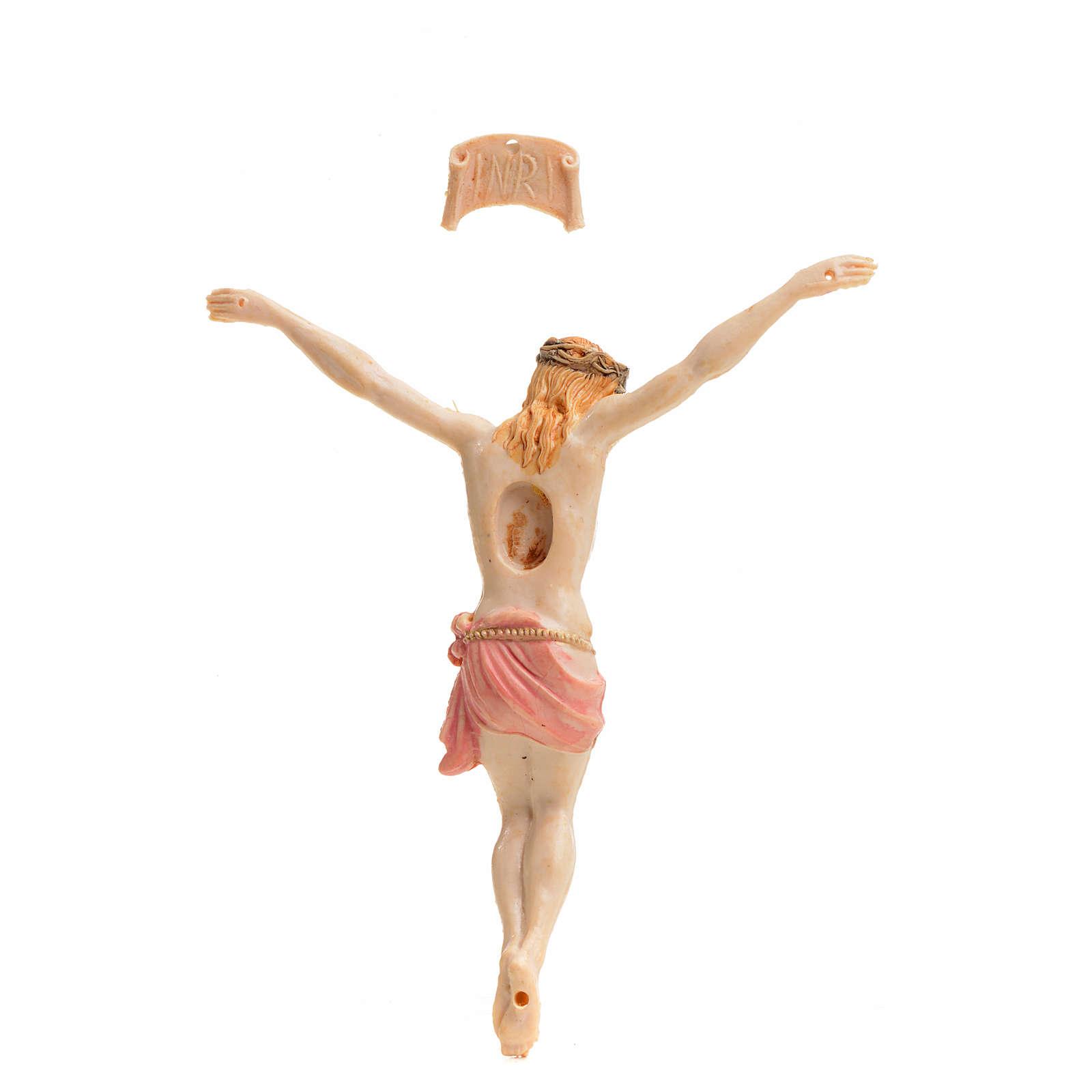 Corps du Christ pvc 9 cm Fontanini type porcelaine 4