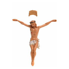 Imagens em Resina e PVC: Corpo de Cristo pvc Fontanini 9 cm efeito madeira