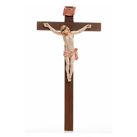 Crucifix bois Chris pvc 23x13 Fontanini type porcelaine s1