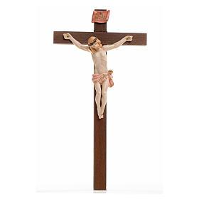 Crocifisso Fontanini 23x13 cm croce legno corpo tipo porcellana s1