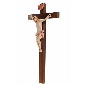 Crocifisso Fontanini 23x13 cm croce legno corpo tipo porcellana s3