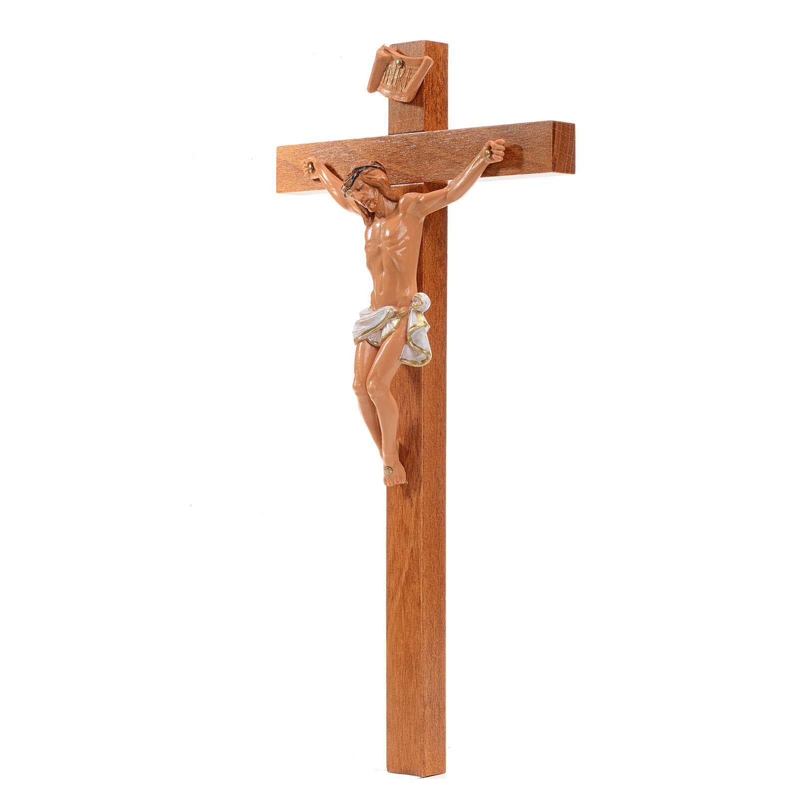 Crucifijo Fontanini 23x13 cruz madera cuerpo pvc 4