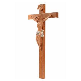 Crocifisso Fontanini 23x13 cm croce legno corpo pvc s3
