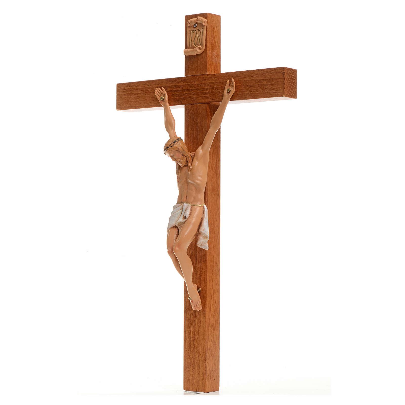 Crucifijo Fontanini 30x17 cm cruz madera cuerpo en pvc 4