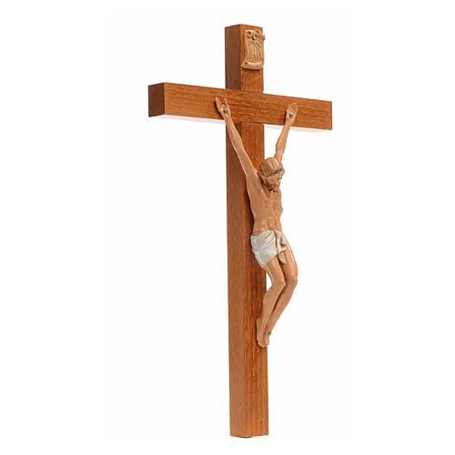 Crocifisso Fontanini 30x17 cm croce legno corpo pvc 2