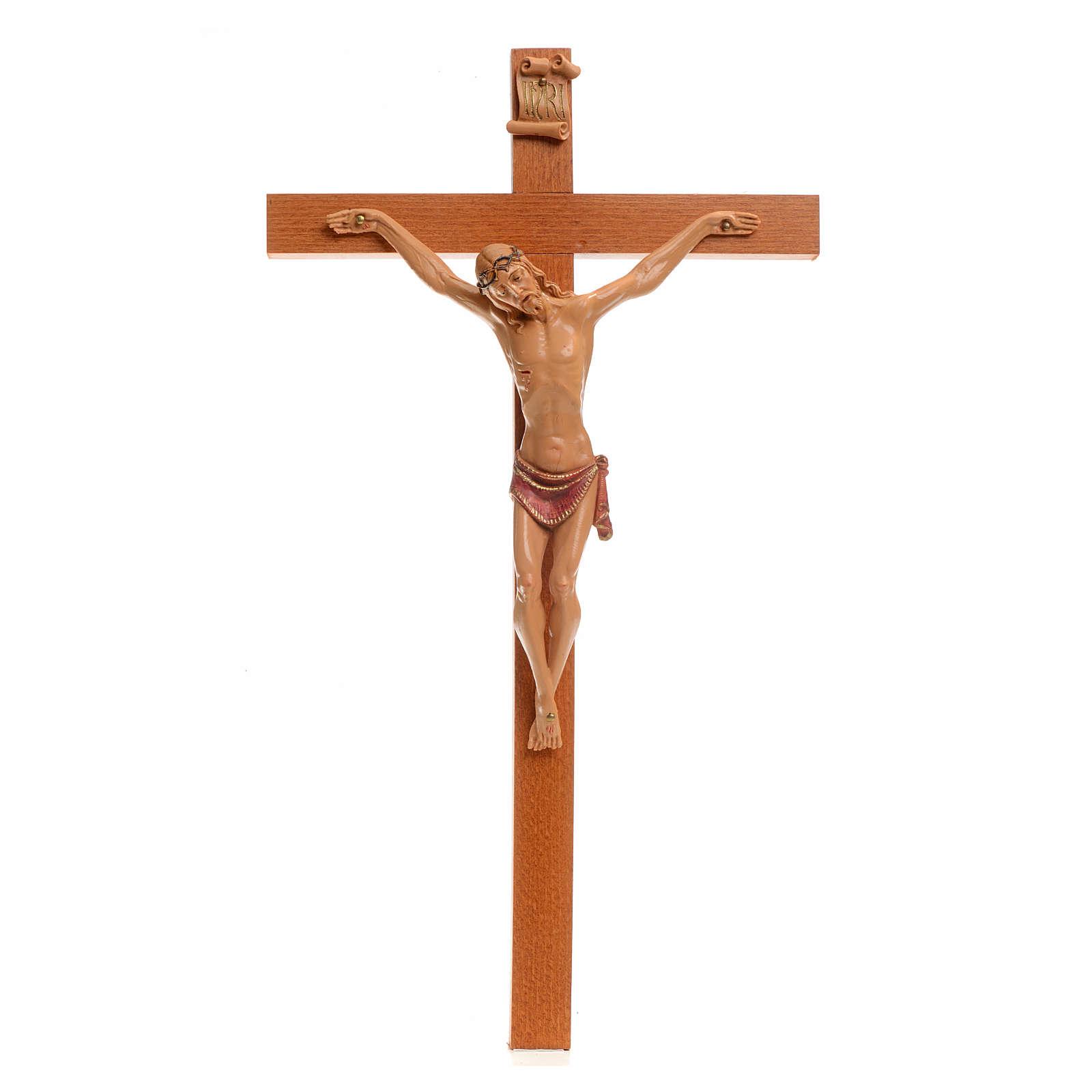 Crucifijo Fontanini 38x22 cuerpo pvc y cruz en madera 4