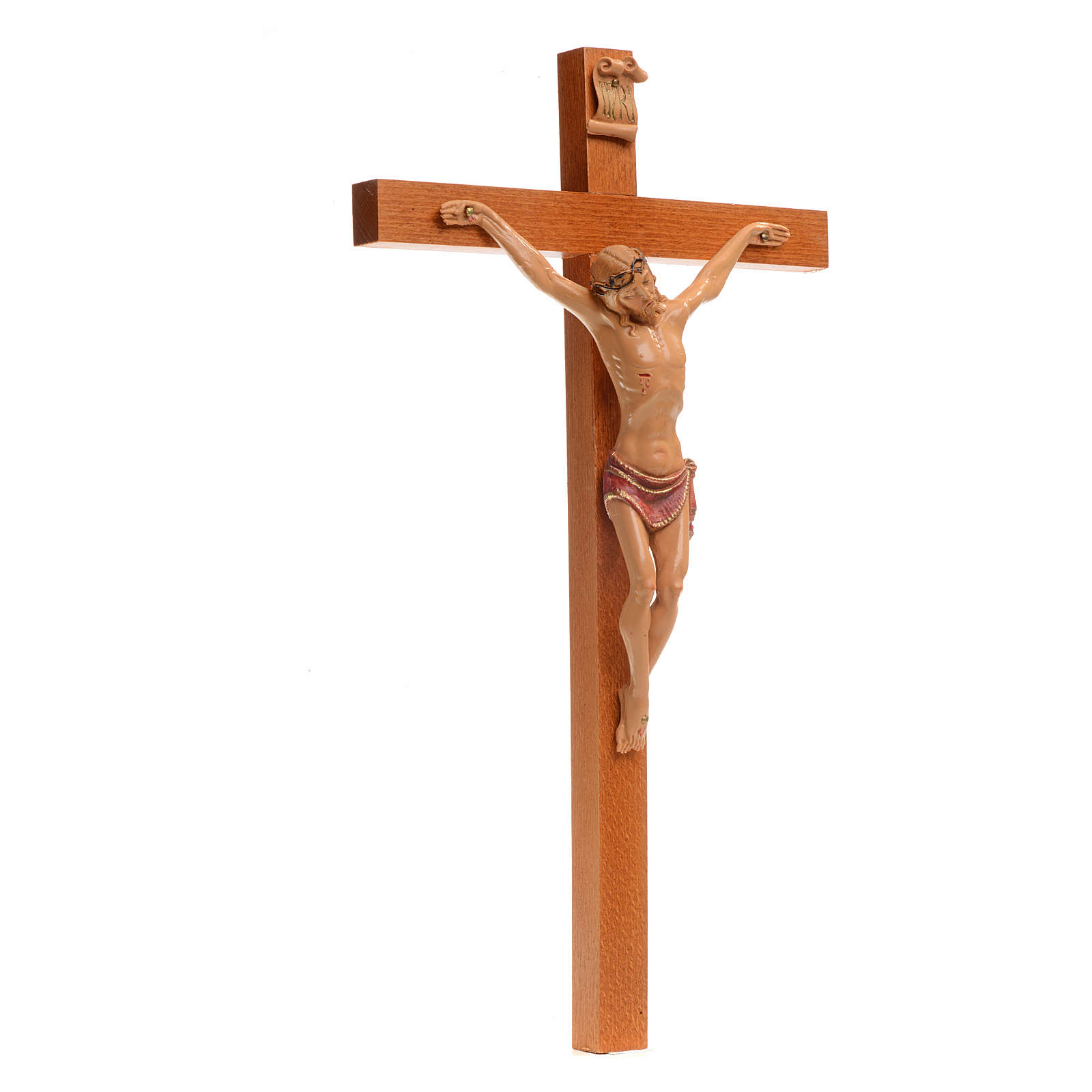Crocefisso Fontanini 38x22 croce legno corpo pvc 4