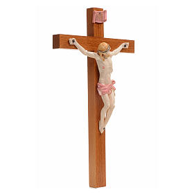 Crucifijo Fontanini 30x17 cerupo pvc tipo porcelana cruz madera s2