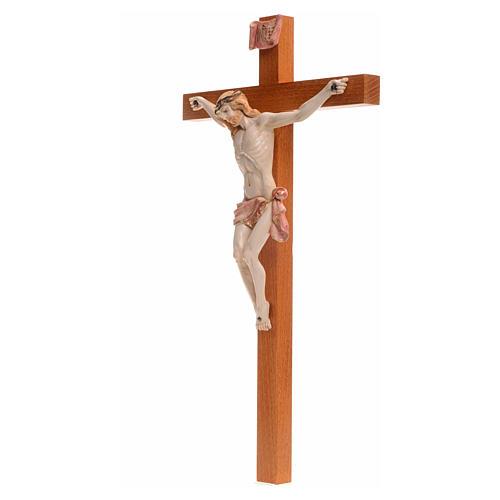 Crocefisso Fontanini 38x21 croce legno corpo pvc tipo porcellana 3