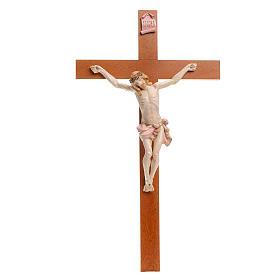 Crocefisso Fontanini 54x30 croce legno corpo pvc tipo porcellana s1