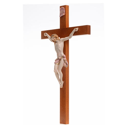 Crocefisso Fontanini 54x30 croce legno corpo pvc tipo porcellana 3