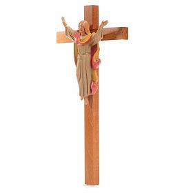 Crucifix bois Chris Ressuscité 25x13 cm Fontanini s3
