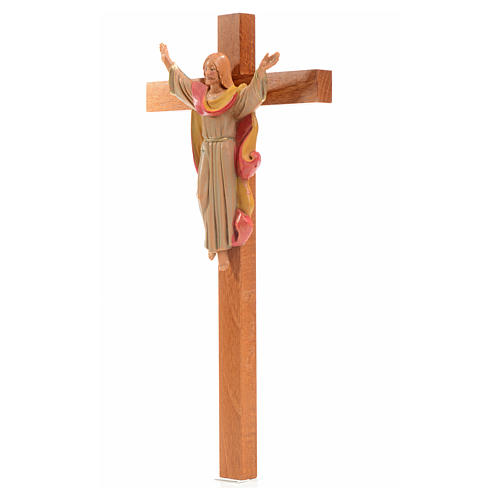 Crucifix bois Chris Ressuscité 25x13 cm Fontanini 3