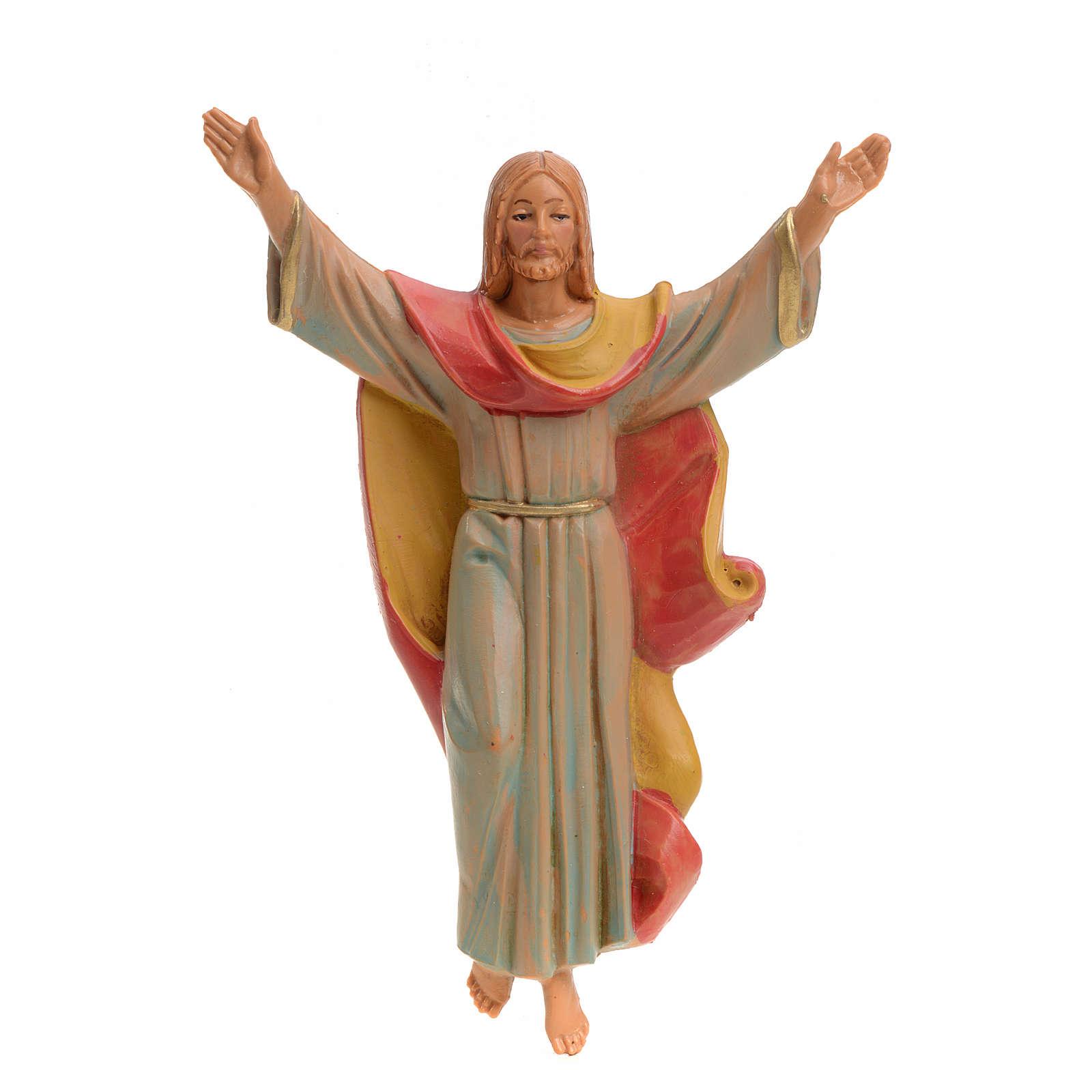 Cristo Resucitado pvc  12 tipo porcelana Fontanini pvc 4