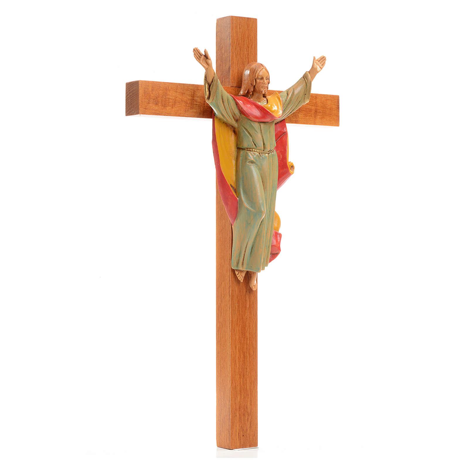 Crucifijo Cristo Resucitado Fontanini 30x17 madera pvc 4