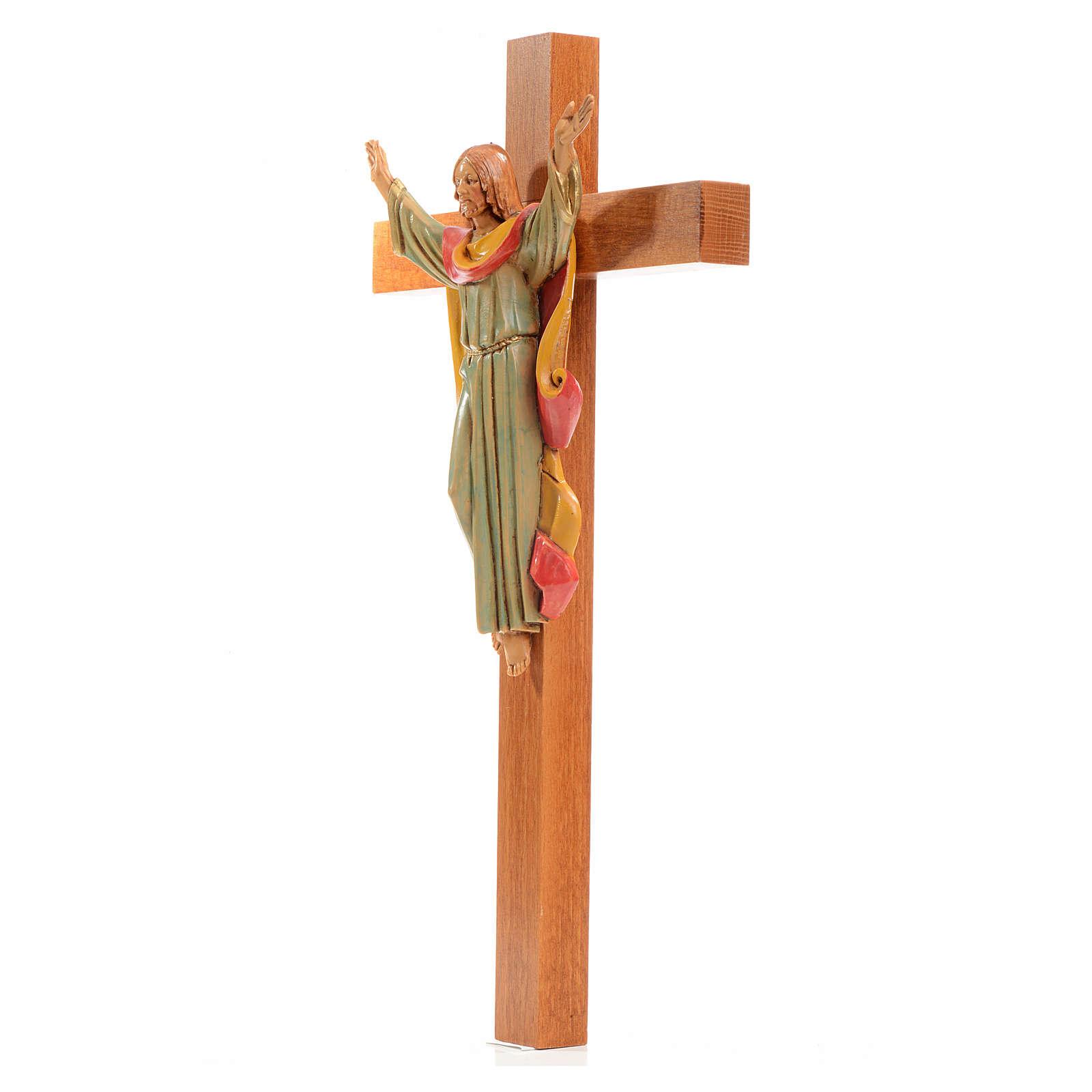 Crucifix bois Chris Ressuscité 30x17 cm Fontanini 4