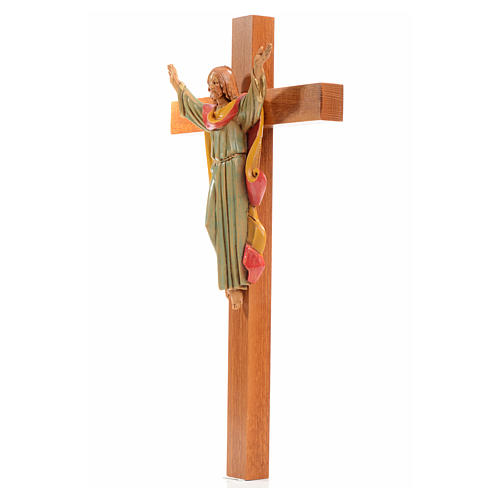 Crucifix bois Chris Ressuscité 30x17 cm Fontanini 2