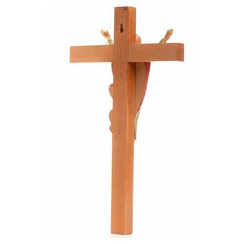 Crocifisso legno Cristo Risorto pvc Fontanini 30x17 cm 3