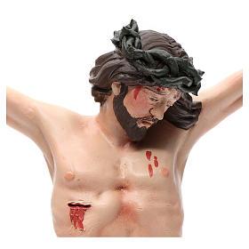 Corps du Christ terre cuite yeux cristal h 45cm style Napolitain s4